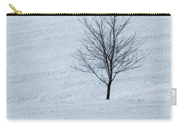 Carry-all Pouch featuring the photograph Lonely Tree by Tom Singleton
