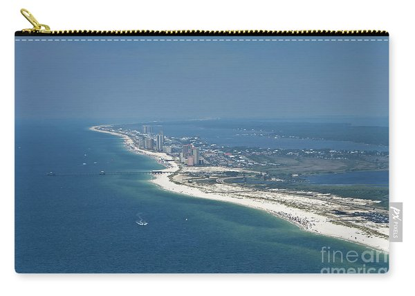 Long, Aerial, Beach View Carry-all Pouch