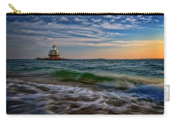 Long Beach Bar Lighthouse Carry-all Pouch