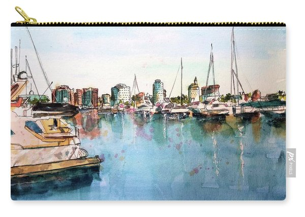 Long Beach Coastal View Carry-all Pouch