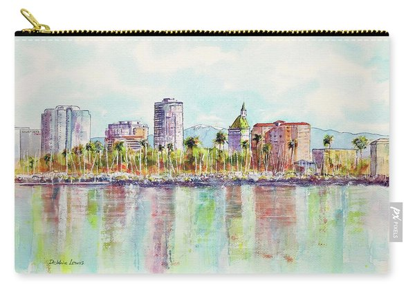 Long Beach Coastline Reflections Carry-all Pouch