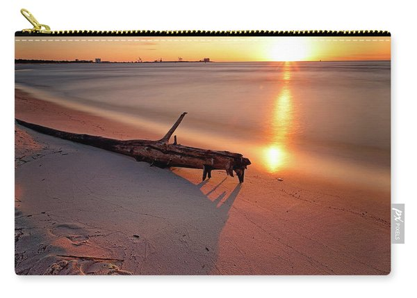 Long Beach Driftwood - Mississippi - Sunrise Carry-all Pouch