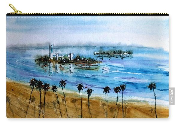 Long Beach Oil Islands Before Sunset Carry-all Pouch