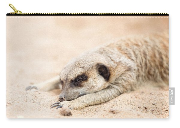 Long Day In Meerkat Village Carry-all Pouch