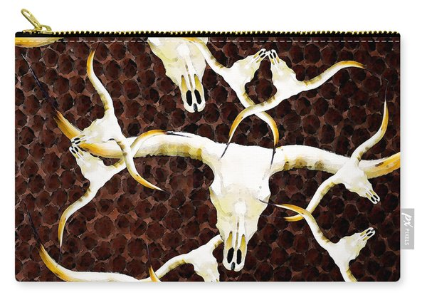 Longhorn Art - Cattle Call - Bull Cow Carry-all Pouch