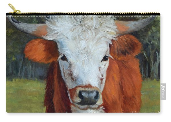 Longhorn Cow Painting II, Ms Tilly  Carry-all Pouch