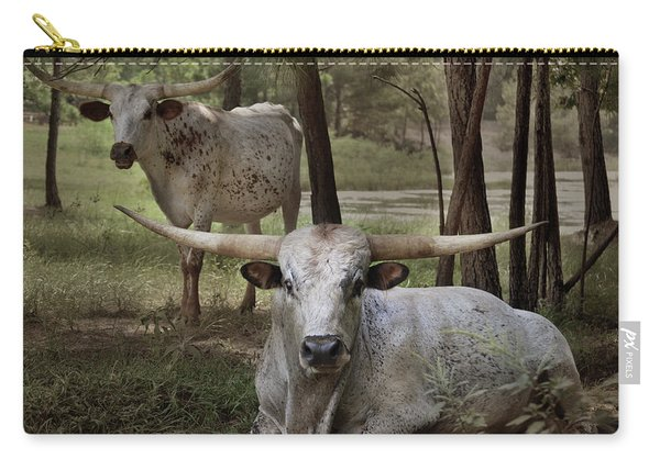 Longhorns On The Watch Carry-all Pouch