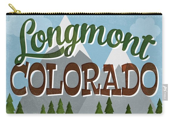 Longmont Colorado Snowy Mountains Carry-all Pouch