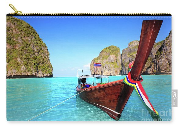Longtail Boat At Maya Bay Carry-all Pouch