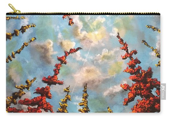 Carry-all Pouch featuring the painting Look Through The Trees by Joel Tesch
