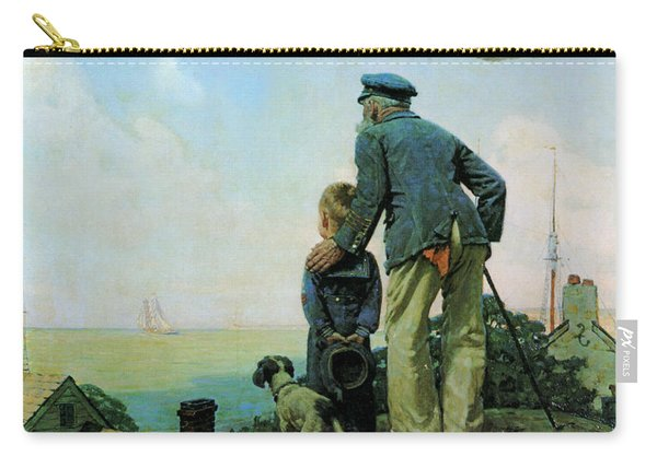 Looking Out To Sea Carry-all Pouch