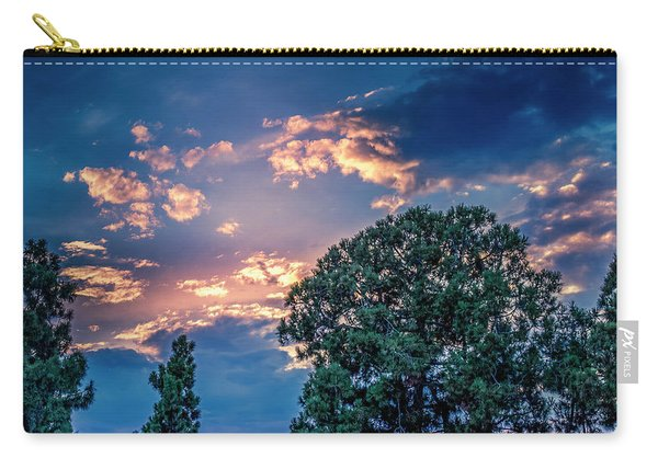 Looking West At Sunset Carry-all Pouch
