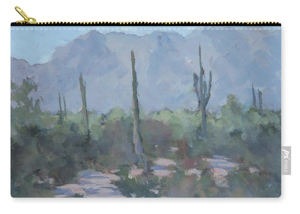 Looking West From Ahwatukee - Art By Bill Tomsa Carry-all Pouch