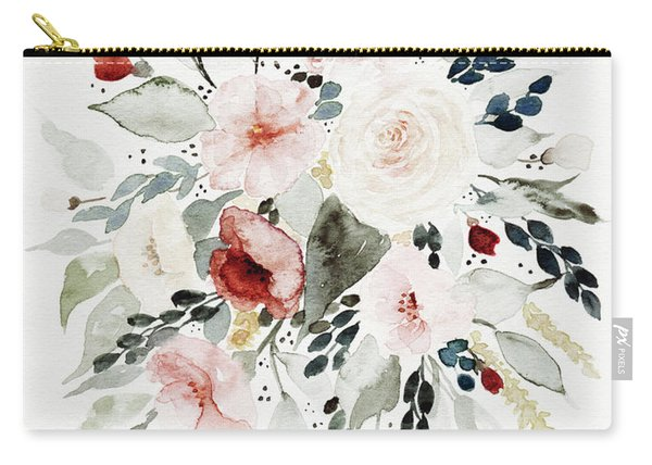 Loose Florals Carry-all Pouch