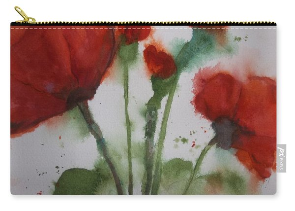 Loose Poppies Carry-all Pouch