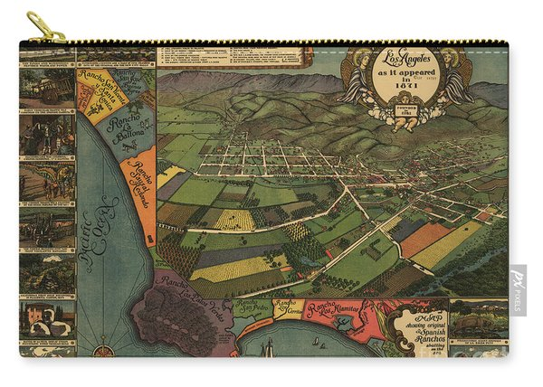 Los Angeles As It Appeared In 1871 Carry-all Pouch
