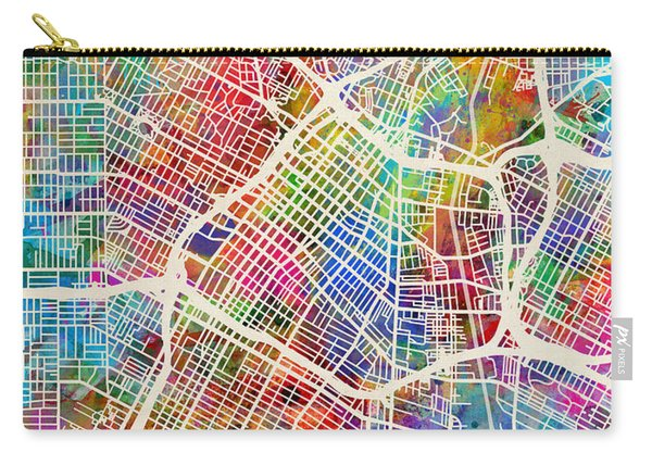 Los Angeles City Street Map Carry-all Pouch