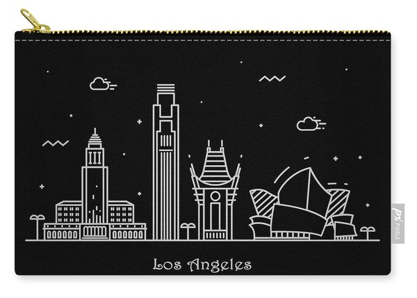 Los Angeles Skyline Travel Poster Carry-all Pouch