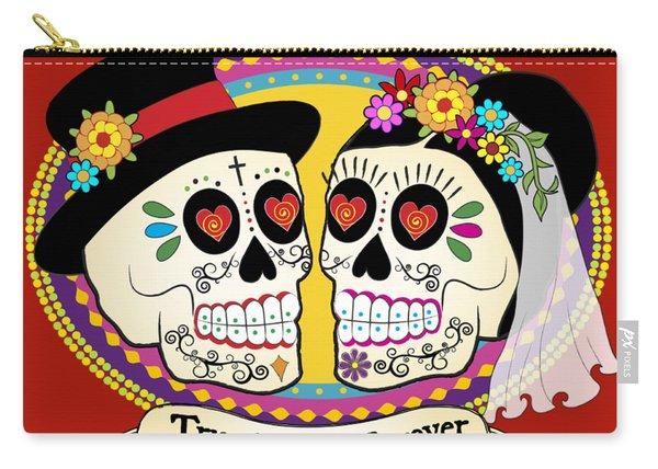 Los Novios Sugar Skulls Carry-all Pouch
