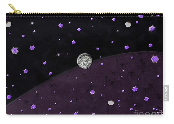 Lost In Midnight Charcoal Stars Carry-all Pouch