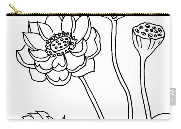 Lotus Flowers Drawing  Carry-all Pouch