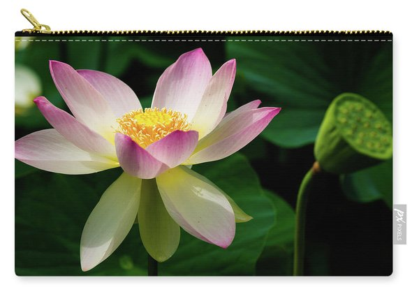 Lotus Lily In Its Final Days Carry-all Pouch