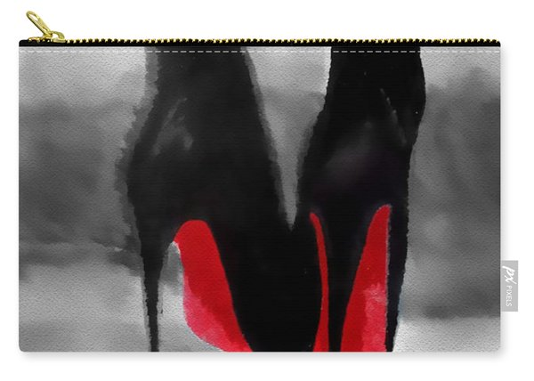 Louboutin At Midnight Black And White Carry-all Pouch