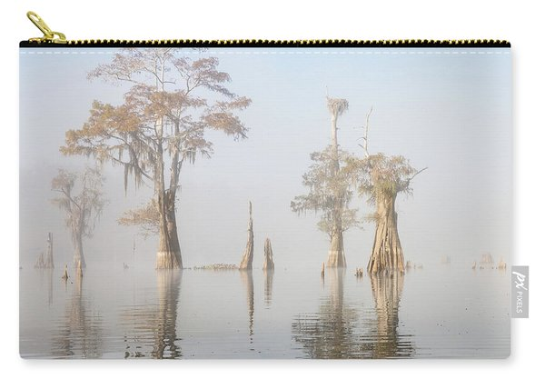 Louisiana Cypress Swamp On A Foggy Morning Five Carry-all Pouch