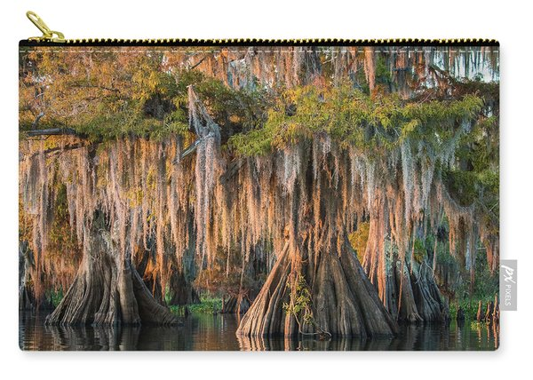 Louisiana Swamp Giant Bald Cypress Trees Two Carry-all Pouch