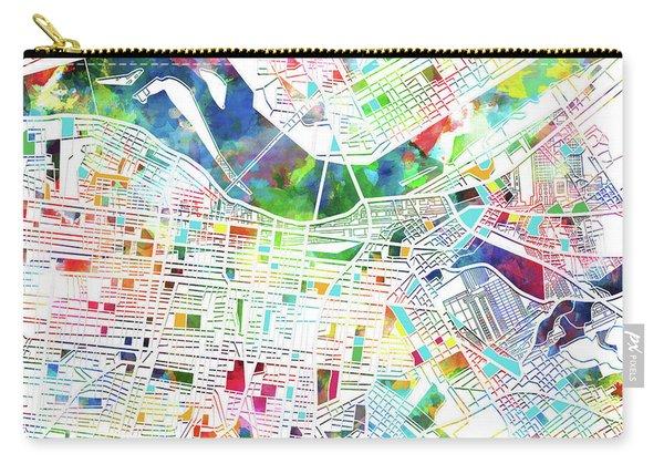 Louisville Kentucky City Map 3 Carry-all Pouch