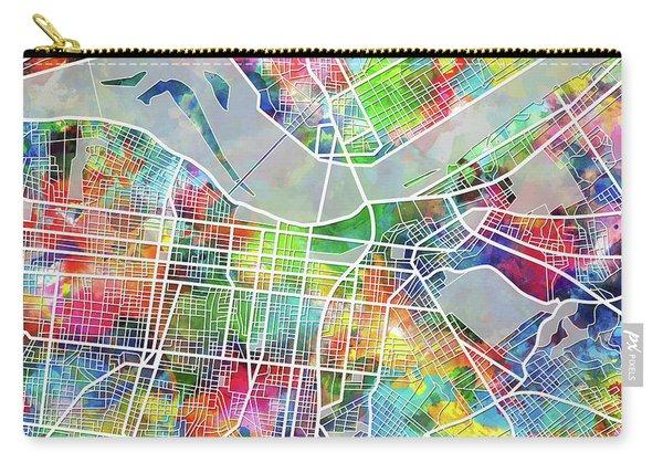 Louisville Kentucky City Map 4 Carry-all Pouch