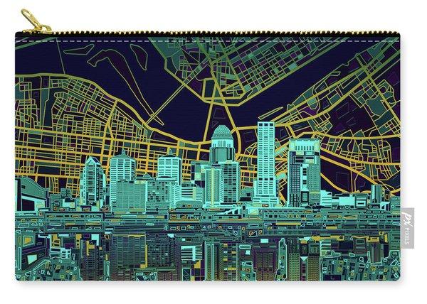 Louisville Kentucky Skyline Abstract 10 Carry-all Pouch