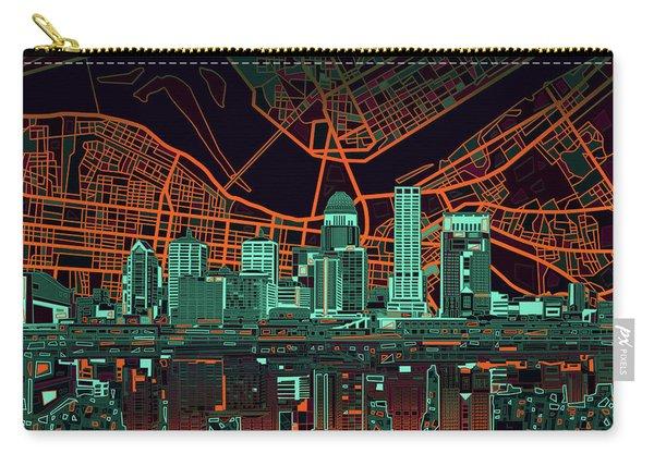 Louisville Kentucky Skyline Abstract 11 Carry-all Pouch