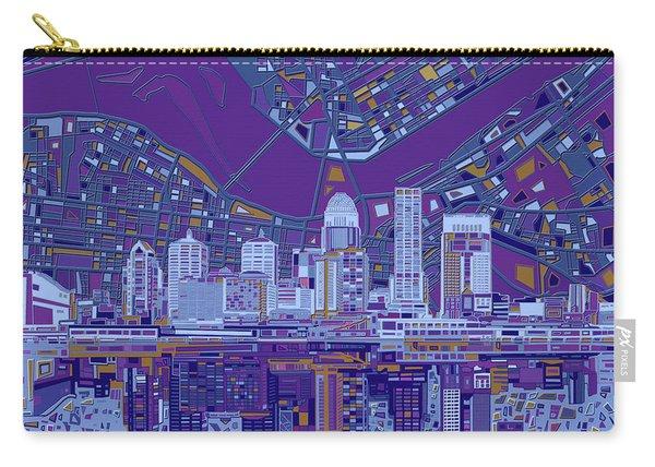 Louisville Kentucky Skyline Abstract 12 Carry-all Pouch