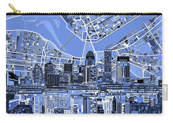 Louisville Kentucky Skyline Abstract 4 Carry-all Pouch