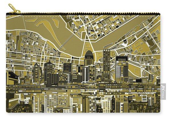 Louisville Kentucky Skyline Abstract 5 Carry-all Pouch