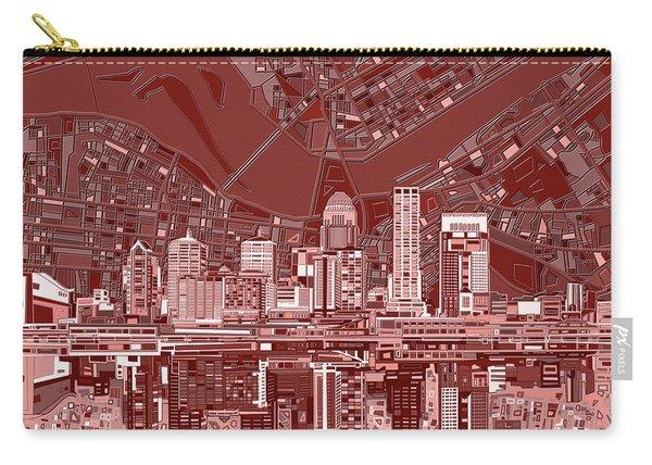 Louisville Kentucky Skyline Abstract 8 Carry-all Pouch