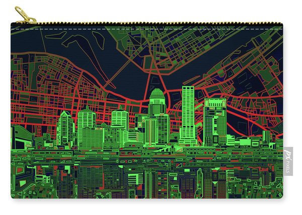 Louisville Kentucky Skyline Abstract 9 Carry-all Pouch