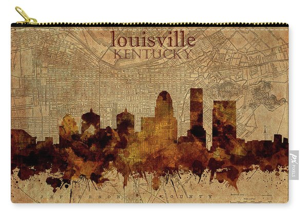 Louisville Kentucky Skyline Vintage 2 Carry-all Pouch
