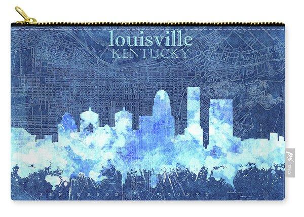 Louisville Kentucky Skyline Vintage 3 Carry-all Pouch