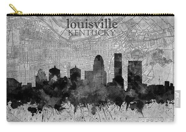Louisville Kentucky Skyline Vintage 4 Carry-all Pouch