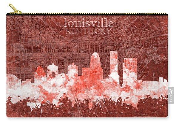 Louisville Kentucky Skyline Vintage 5 Carry-all Pouch