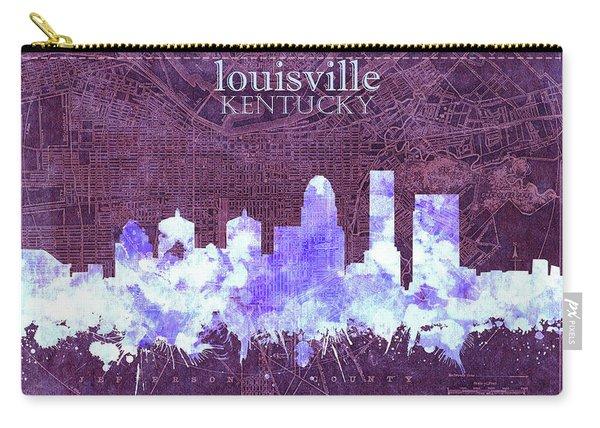Louisville Kentucky Skyline Vintage 7 Carry-all Pouch