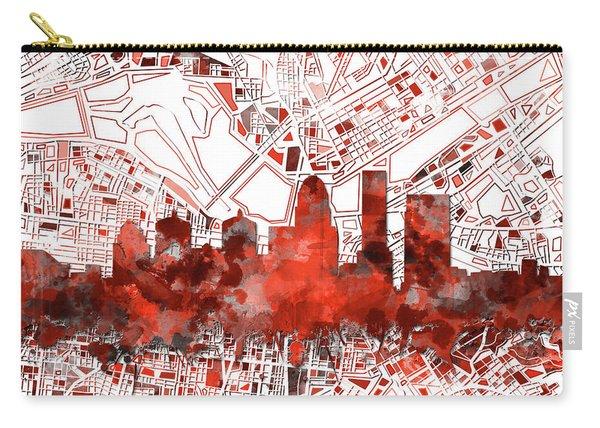 Louisville Kentucky Skyline Watercolor 10 Carry-all Pouch