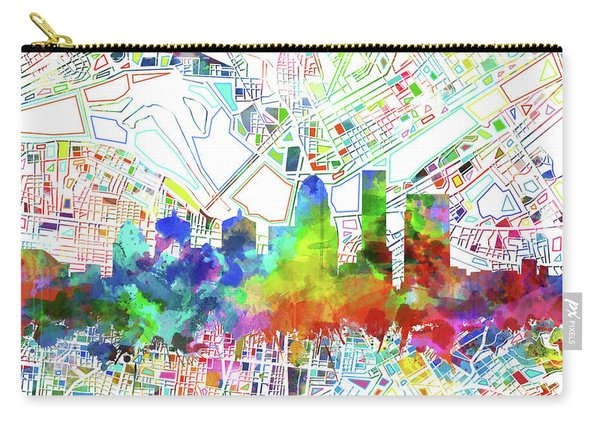 Louisville Kentucky Skyline Watercolor 6 Carry-all Pouch