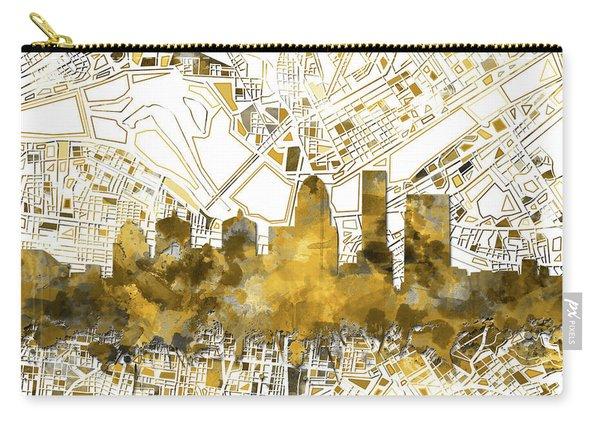 Louisville Kentucky Skyline Watercolor 7 Carry-all Pouch