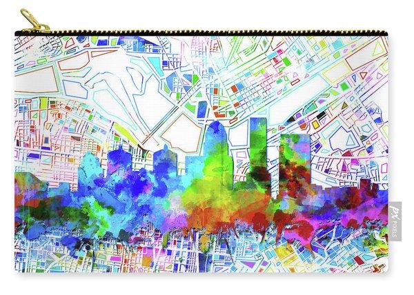Louisville Kentucky Skyline Watercolor 8 Carry-all Pouch