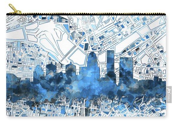 Louisville Kentucky Skyline Watercolor 9 Carry-all Pouch