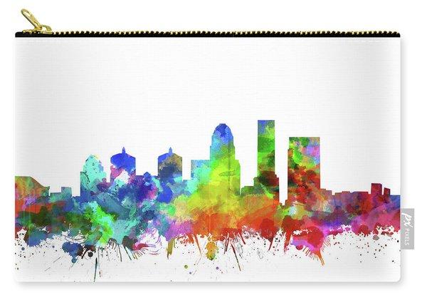 Louisville Kentucky Skyline Watercolor Carry-all Pouch