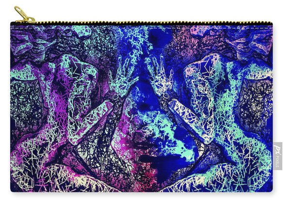 Carry-all Pouch featuring the mixed media Love And Agony by Al Matra